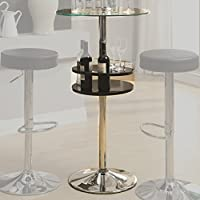 Coaster Home Furnishings 120715 Contemporary Bar Table, Black