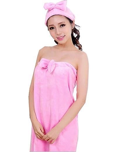 Spa Bath Towel Wrap Lovely Bowknot Bath Gowns Soft Flannel Bathrobe ...