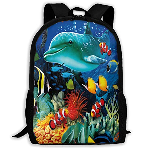 Backpack Ocean Fish Womens School Backpacks Marvellous Gift