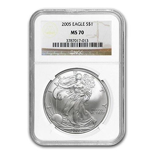 2005 Silver American Eagle MS-70 NGC 1 OZ MS-70 NGC