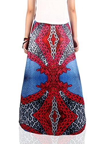 Plage Jupe Maxi Femmes Et Jupe NiSeng Rtro Style Longueur Jupe 8 Bohmien Imprim Floral w4qq8x