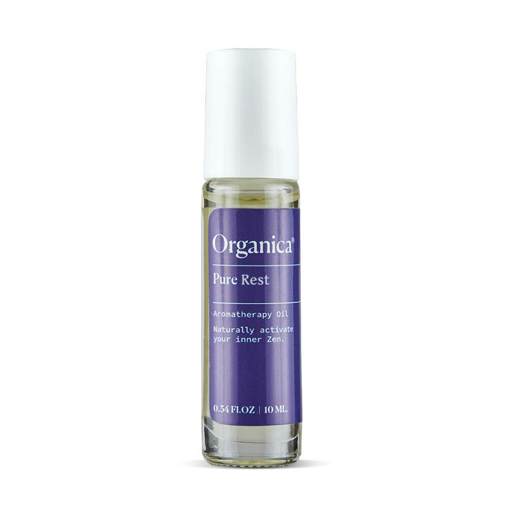 Organica Wellness Pure Rest Roll On Essential Oils Lavender & Sandalwood   Calming Aromatherapy Oil Blend   Sleep, Stress & Anxiety Relief Rollerball by Organica