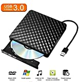 External CD/DVD Drive for Laptop, Mac, Chromebooks, with USB 3.0 Plug for Quick Data Transfer, Fast Writing & Reading Speed 8 X DVD –R, Ultra Thin (CD/DVD Driver + Bag) - Tecnugiz