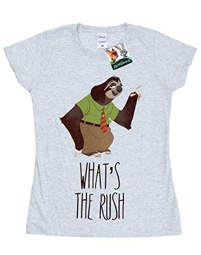 Donna What's The Disney Rush Grigio Zootropolis Maglietta HT6Wd