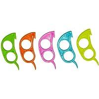 Bobury Colore Casuale di plastica della Maniglia Mini Portatile Frutta, Arancia, Limone Mouse di plastica Strumenti Opener Peeler Anello da Cucina