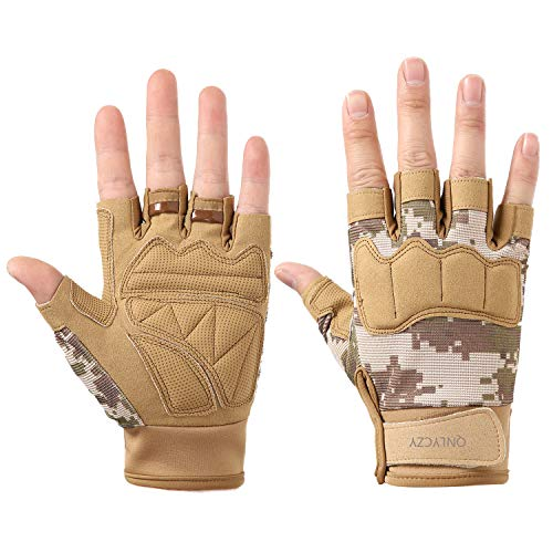 QNLYCZY Tactical Gloves Military Army Police SWAT Combat Assault Tactical Fighting Gloves, Fitness Gloves, Outdoor Gloves, Cycling Gloves Motorcycle Bicycle, Shock Absorption, Non-Slip (M, L, XL)