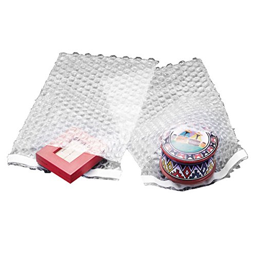 (100 6x8.5 Clear Self-Sealing Bubble Out Bag Pouches from The Boxery)