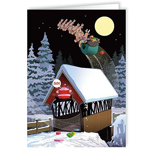 Low Bridge Christmas Card - 18 Funny Christmas Cards & Envelopes