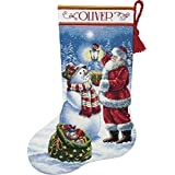 Dimensions Needlecrafts Holiday Glow Stocking Counted Cross Stitch Kit, 70-08952