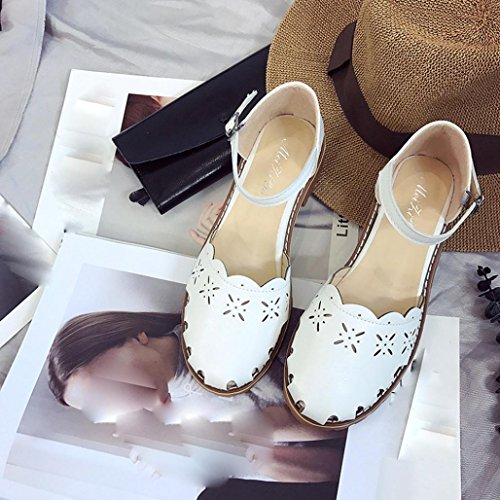 BZLine® Frauen Summer Closed Sandals for Women's Shoe Sandalen Weiß