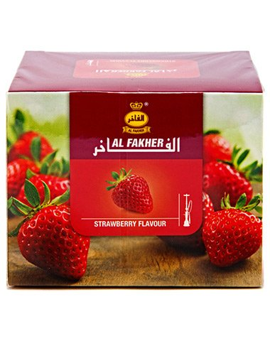 Al Fakher 250g Strawberry Flavor Hookahs by S & L with Free S and L Male and Female Mouth Piece Disposable Tips
