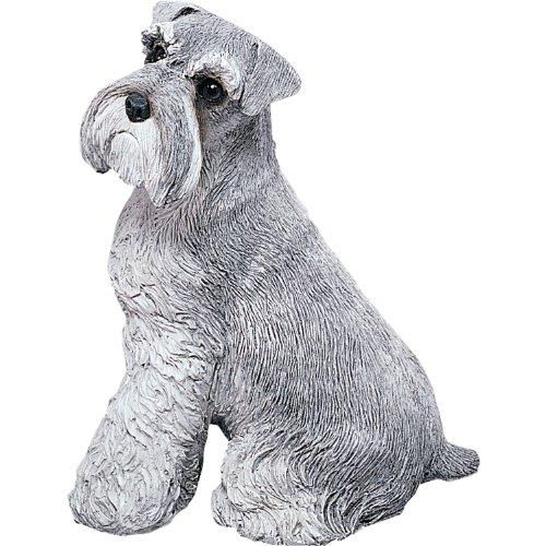 Sandicast Original Size Gray Schnauzer Sculpture - Sitting ()