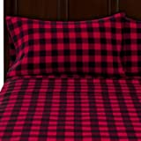 Mainstays Flannel Sheet Set Queen, Red Plaid