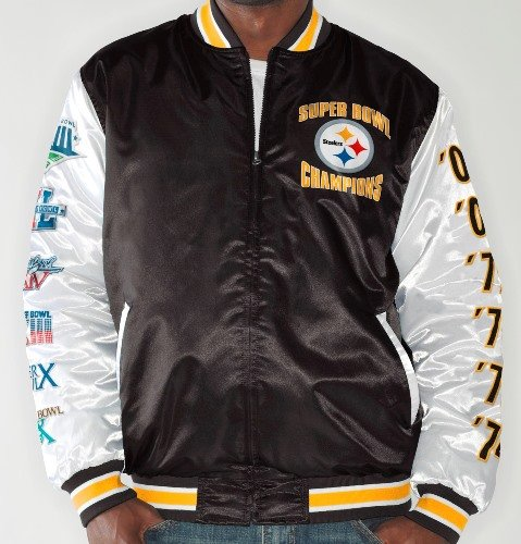 "Pittsburgh Steelers NFL G-III ""Up the Gut"" Super Bowl Commemorative Satin Jacket"