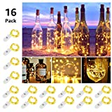 LE 1M 20 LED Micro Copper Wire Lights, Warm White Battery Operated Fairy String Lights, IP65 Waterproof Bottle Lights for DIY, Wedding, Party and More (4 * 4 or 8 * 2 in Pack)