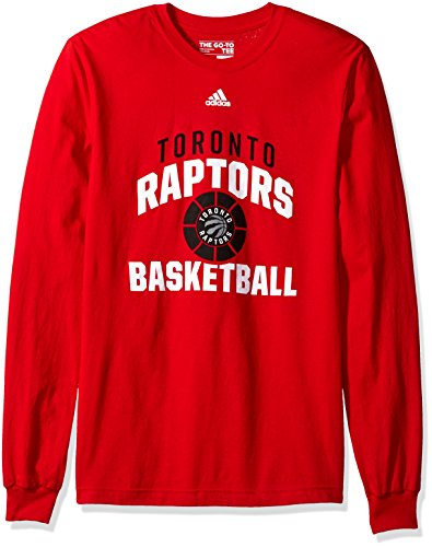 fan products of NBA Toronto Raptors Adult Men Rep Big Go-To L/S Tee, Medium, Red