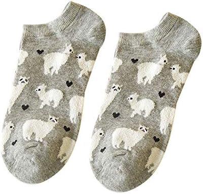 nuiOOui131 Alpaca Calcetines de caña Baja para Mujer ...