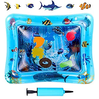 """Inflatable Tummy Time Water Mat for Baby, Fun Water Play Mat-Perfect Activity Play Center Promotes Infant Visual Stimulation, 26""""x20"""""""