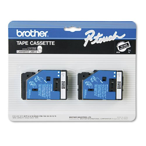 BRTTC34Z - Brother TC Tape Cartridges for P-Touch Labelers