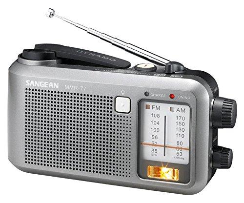 Sangean Compact Emergency Water-resistant Hand Crank AM/FM Radio with Built-in Speaker