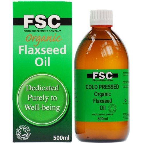 (3 PACK) - FSC - Organic Flaxseed Oil | 500ml | 3 PACK BUNDLE by FSC