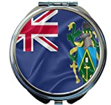 Rikki Knight Pitcairn Islands Flag Design Round Compact Mirror
