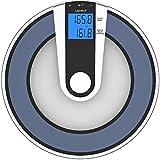 Lightstuff Bathroom Scale - Now/Before Weight Comparison - Bonus BMI Calculator - Big Display - Step ON Technology