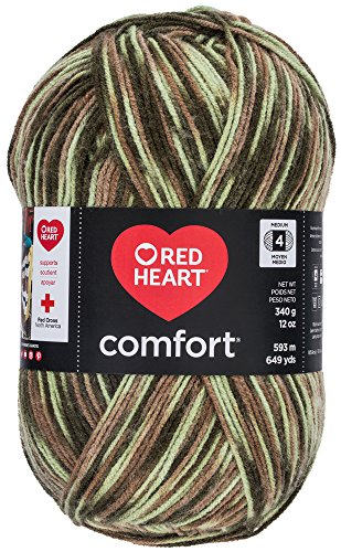 RED HEART Comfort Yarn, Light Camo - Camo Yarn