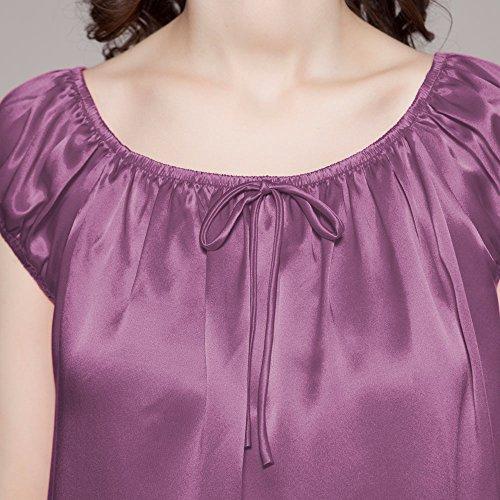 22 Knie LilySilk Lang Violett Momme Nachtkleider Nachthemd Seiden Damen Nachtwäsche pwdq4dHUtx