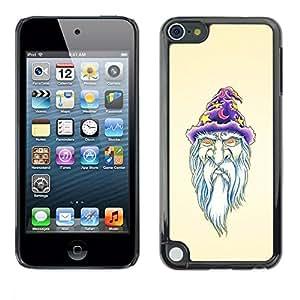 Be Good Phone Accessory // Dura Cáscara cubierta Protectora Caso Carcasa Funda de Protección para Apple iPod Touch 5 // Beard Wizzard Witch Art Portraid White Old Man