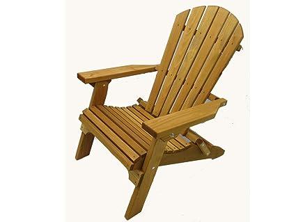 Amazon Com Kilmer Creek Folding Cedar Adirondack Chair W Stained