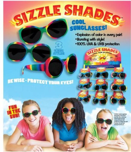 Sizzle Shades Kids Sunglasses [60 Pieces] *** Product Description: Sizzle Shades An Explosion Of Color In Every Pair! Each Youth Sunglasses Offers 100% Uva & Uvb Protection With Unique Color - Sunglasses Scheme