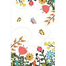 """Discreet Password Book: Never Forget A Password Again! 6"""" x 9"""" Colorful Flowers And Butterflies Design, Password Book With Tabbed Large Alphabet, Over 390 Record User And Password"""
