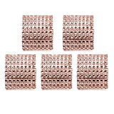 HUELE 50 Pcs Rhinestone Napkin Rings Holders for DIY Wedding Party Decoration Champagne