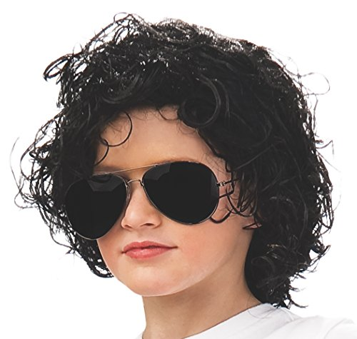Sized Hair Child Wig - Rubie's Michael Jackson Curly Children's Costume Wig
