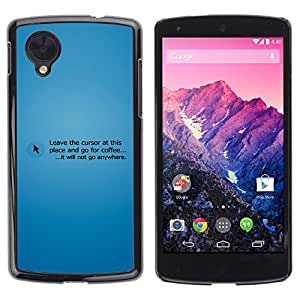 ¡Tomar un descanso! - Metal de aluminio y de plástico duro Caja del teléfono - Negro - LG Nexus 5 D820 D821