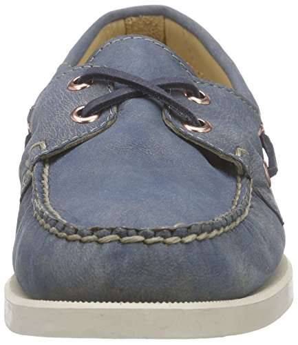 Sebago Women's Docksides Boat Shoes, Red Blue - Blau (Slate Blue Lea)