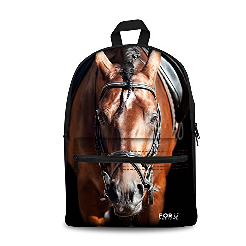 FOR U DESIGNS Brown Horse Animal Backpack