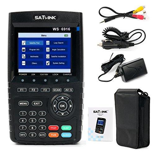 SATLINK 2016 New Satlink WS-6916 HD DVB-S+S2 Satellite Signal Meter Finder US Stock