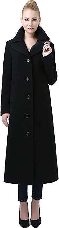 1930s Style Coats, Jackets | Art Deco Outerwear BGSD Womens Jeanette Long Wool Blend Maxi Walking Coat (Regular Plus Size & Short) $189.99 AT vintagedancer.com