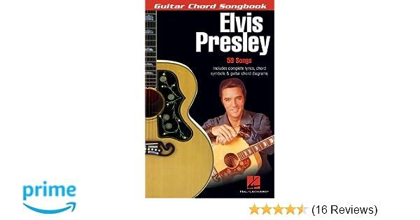 Amazon Elvis Presley Guitar Chord Songbook 6 Inch X 9 Inch