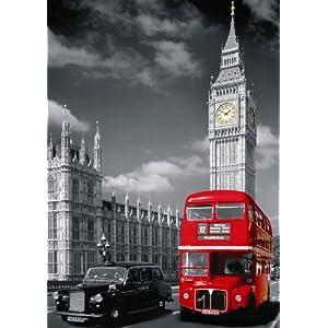 Nathan 87735 Puzzle Classico Londra Con Bus Rosso 1500 Pezzi