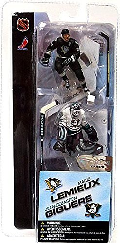 McFarlane Toys NHL 3 Inch Sports Picks Series 1 Mini Figure 2Pack Mario Lemieux (Pittsburgh Penguins) Jean Sebastien Giguere (Anaheim Mighty Ducks) ()