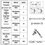 Bangckier Sun Shade Hardware Kit for Rectangle and