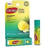 Carmex Moisturizing Lip Balm Tropical Colada 0.15oz, Click Stick (2 Pack)