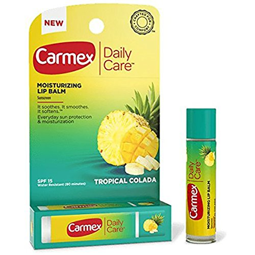 Carmex Moisturizing Lip Balm Tropical Colada 0.15oz, Click Stick (12 Pack)