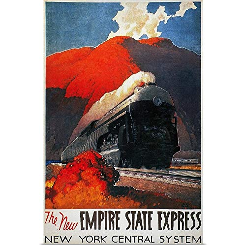 Great Big Canvas Poster Print Entitled American Train Poster, The New Empire State Express 20