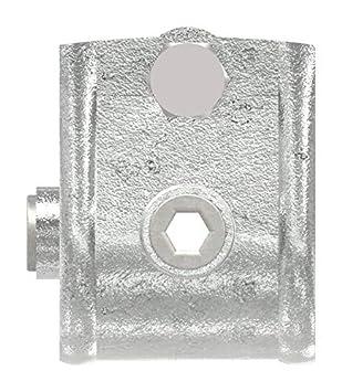 /Ø 26,9 mm feuerverzinkt inkl T-Verbinder//T-St/ück Fenau 90/° Schrauben Temperguss galvanisiert Rohrverbinder offen