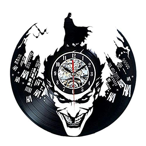 Hot Vinyl Record Wall Clock Batman Theme-Unique CD Art Home Decor Creative Modern Interior Design Decoration Silent 12
