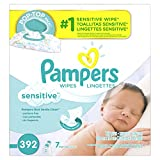 Gourmet Food : Pampers Baby Wipes Sensitive 7X Pop-Top Packs, 392 Count